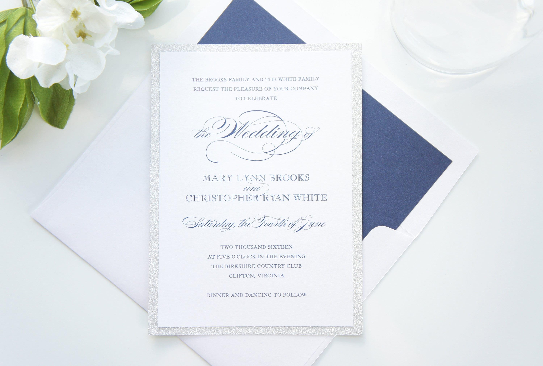 50: Blue And Silver Elegant Wedding Invitations At Websimilar.org
