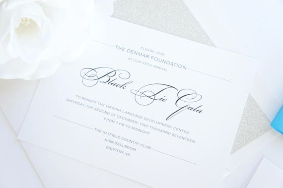 Business Party Invitation Company Event Invitation Corporate Dinner Fundraiser Charity Awards Dinner Gala Invitation Color Customize