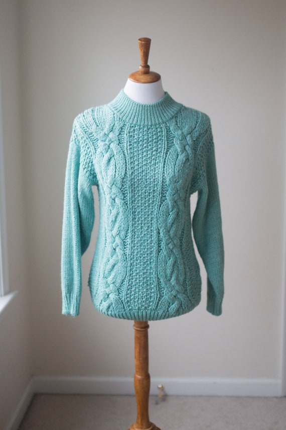 Vintage Chunky Knit Sweater | Hand Knit Sweater |