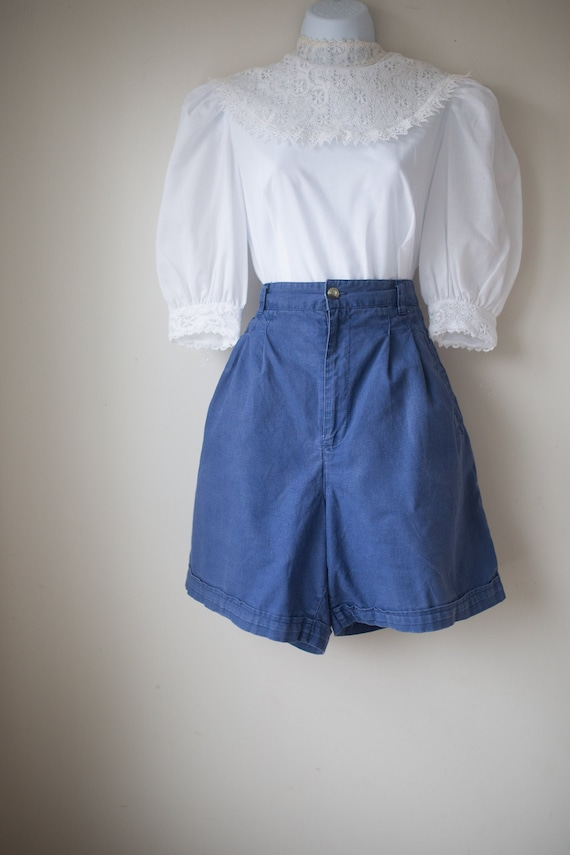 Vintage High Waisted Cotton Shorts | High Rise Sho