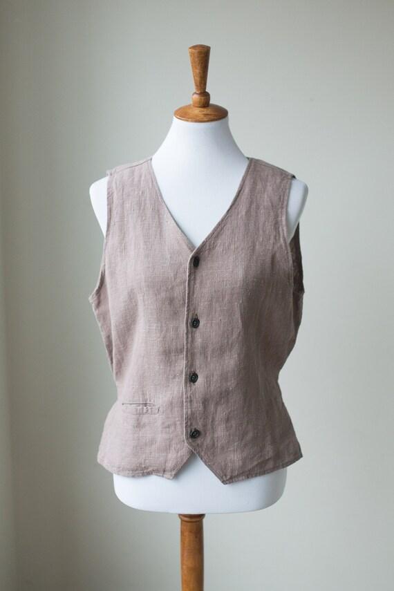 Vintage FLAX Linen Vest | Neutral Linen Vest | But