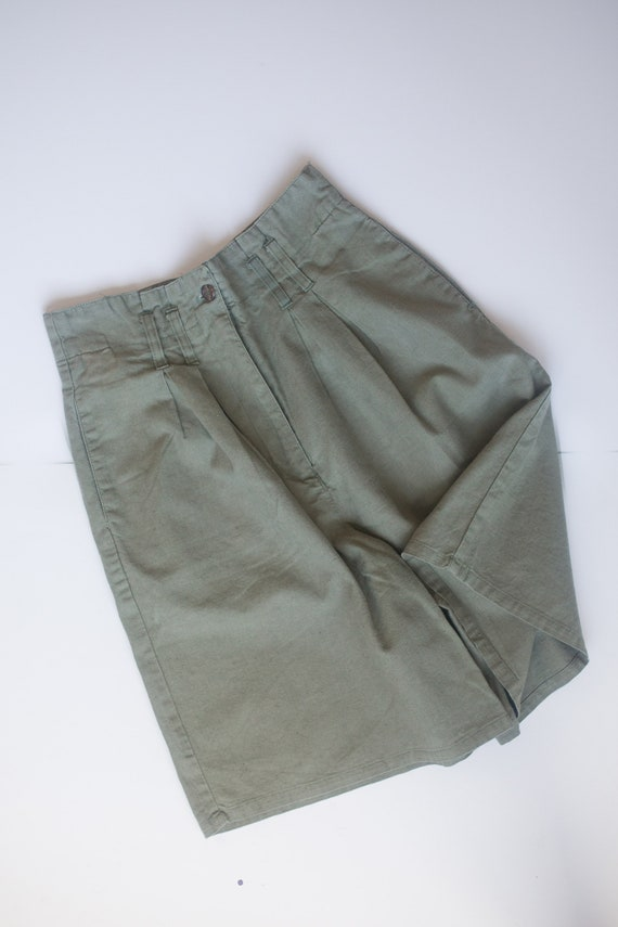 Vintage High Waisted Shorts   High Rise Cotton Sh… - image 2