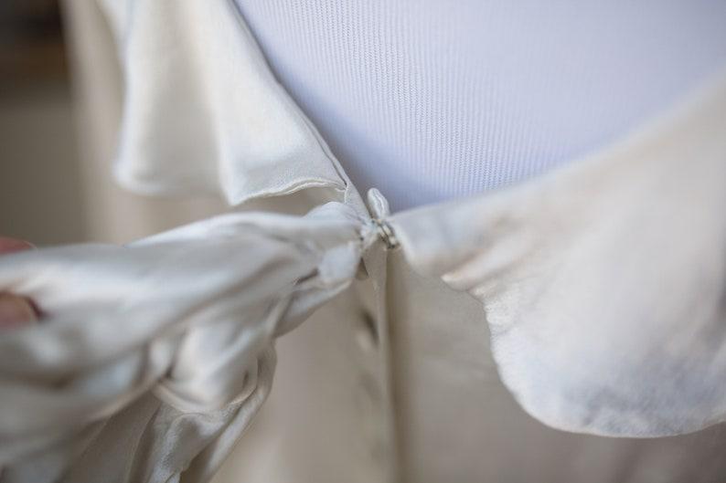 Vintage Wedding Dress 1930s wedding gown Vintage Satin Gown Vintage Long Sleeve Wedding Gown Drop Waist Wedding Gown