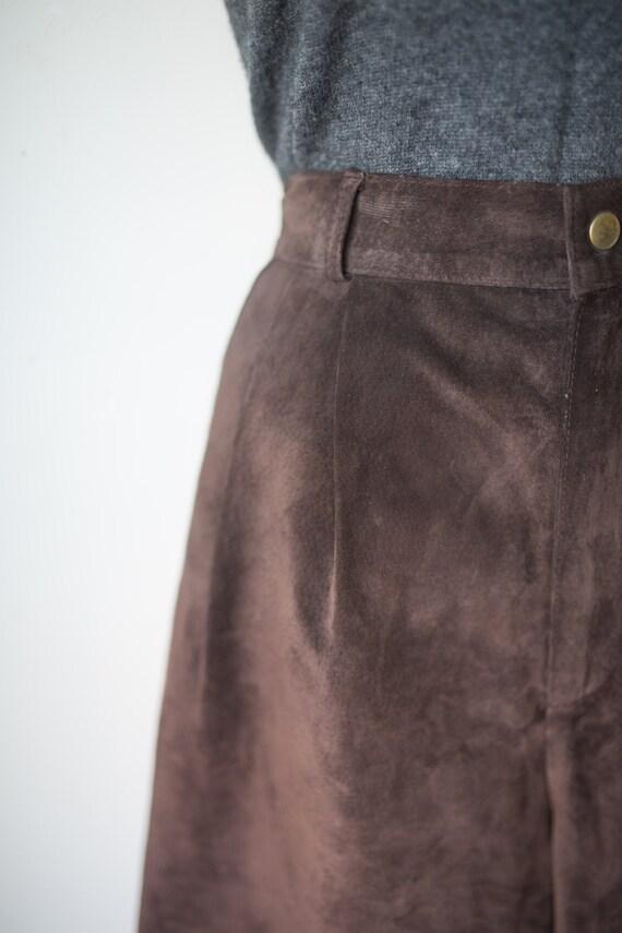 Vintage Suede Longline Shorts   Brown Suede Short… - image 4