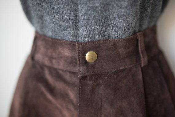 Vintage Suede Longline Shorts   Brown Suede Short… - image 6