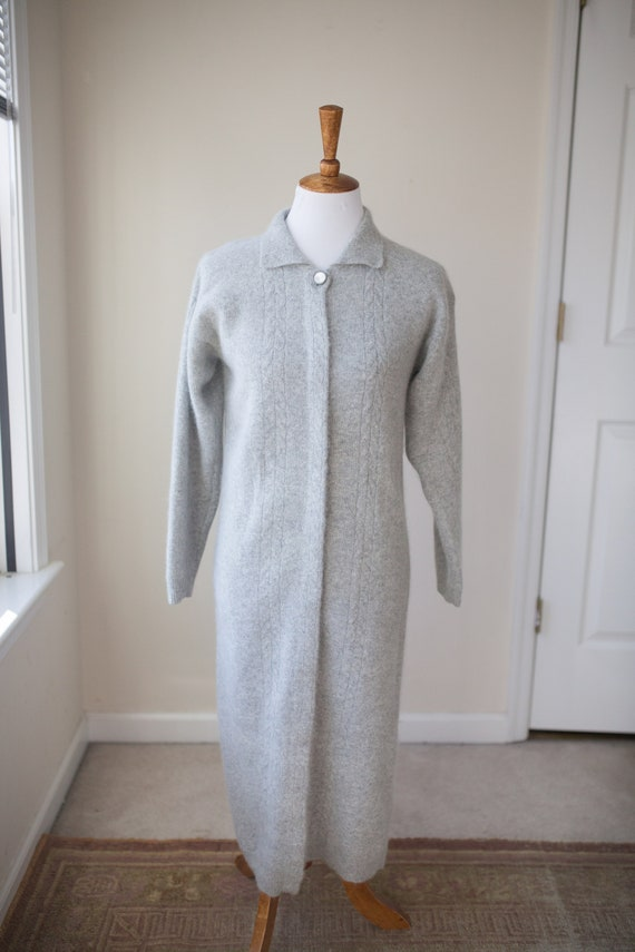 Vintage Angora Long Sweater Coat | Vintage Car Coa