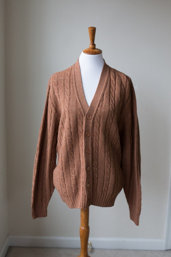 Vintage Cable Knit Cardigan | Cozy Cardigan | Slou