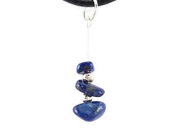 Silver jewelry, lapis lazuli necklace, hippie pendant, stone jewelry, birthstone jewelry sagittarus stone necklace hippie silver pendant vyc