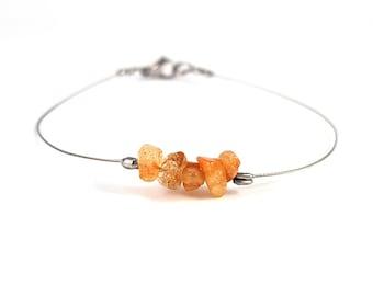 Hippie gypsy jewelry, sunstone bracelet, handcrafted jewelry, simple silver bracelet, natural gemstone jewelry, hippie gypsy bracelet shikky