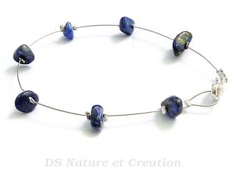 Gemstone bracelet, lapis lazuli jewelry, handmade bracelet blue gemstone jewelry simple bracelet lapis lazuli bracelet handmade jewelry laya