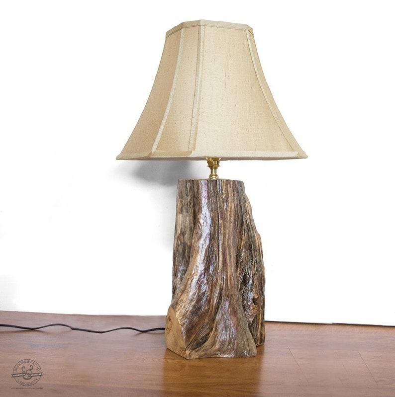 Exceptionnel Rustic Table Lamp   Tree Log Lamp   Driftwood Lamp   End Table Lamp    Farmhouse Lamp   Cabin Decor   Adirondack Lamp   Lake House Decor