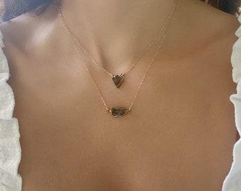 Noble Shungite Necklace // Rose Gold Shungite Necklace // Small Shungite Necklace // Elite Nobel Shungite Gold Necklace