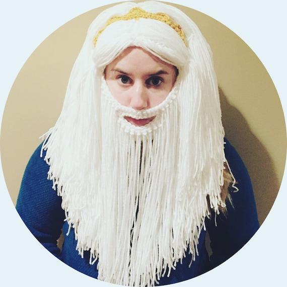 Erwachsene Größe kleine Meerjungfrau König Triton Bart-Hut | Etsy