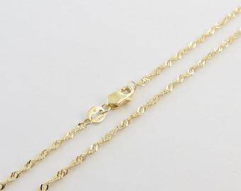33e81943d492d 14k Yellow Gold Singapore Chain Necklace 16