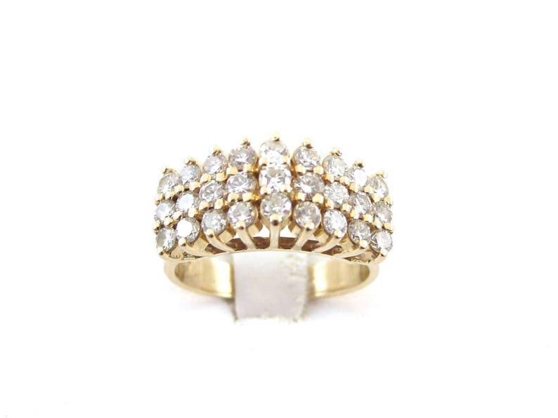 599f84ec200b5 14k Yellow Gold Diamond Pyramid Ring 14k Yellow Gold Diamond | Etsy