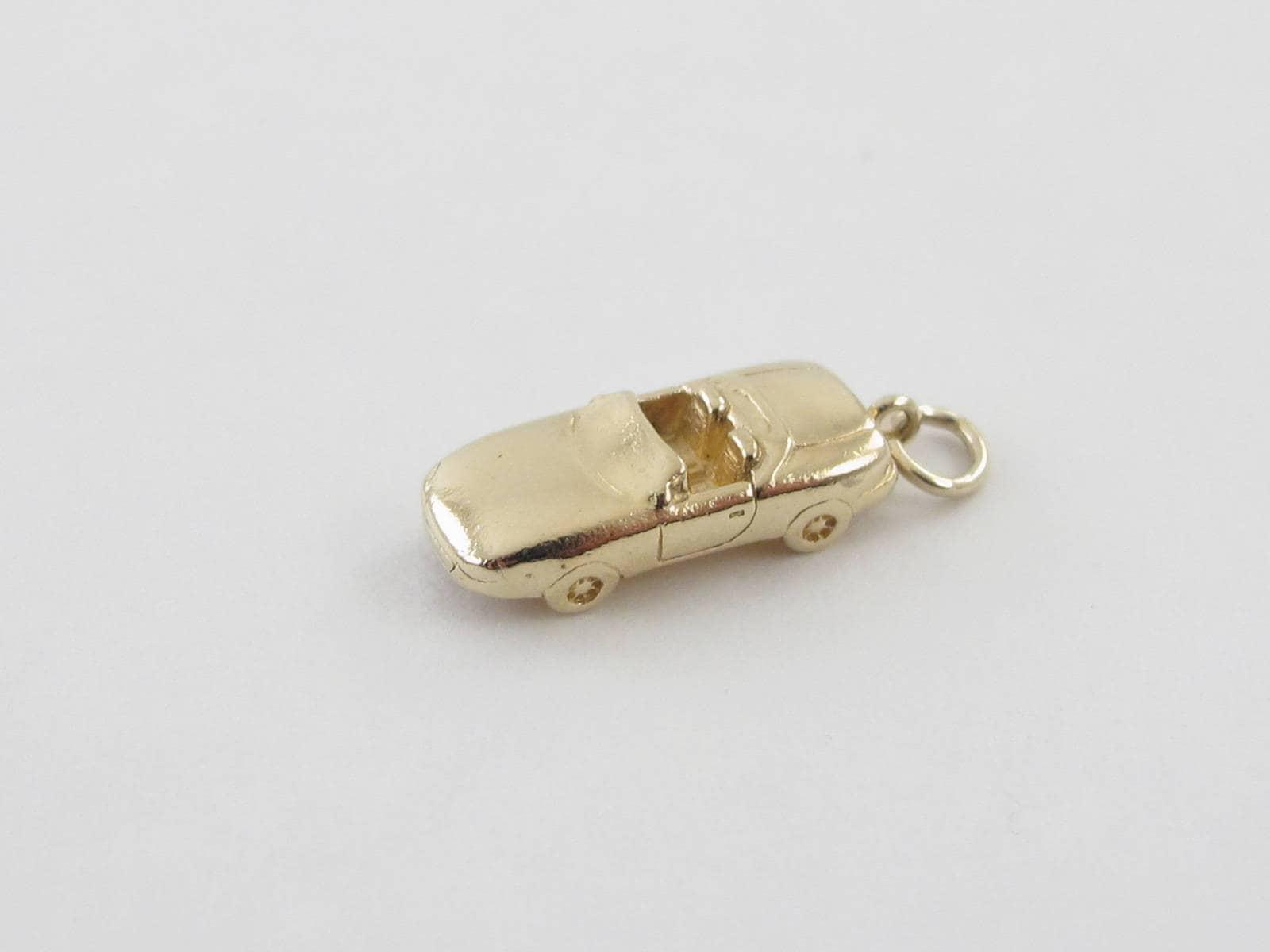 14k jaune or Vintage Vintage or pendentif Charm voiture - 14k or jaune Automobile charme f88db1