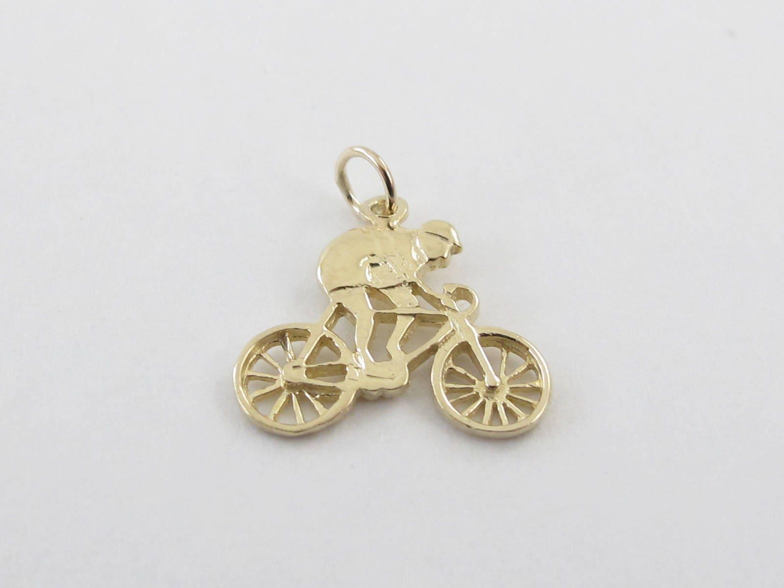 14k or or 14k jaune vélo breloque - 14k or jaune pendentif vélo 0bc19d