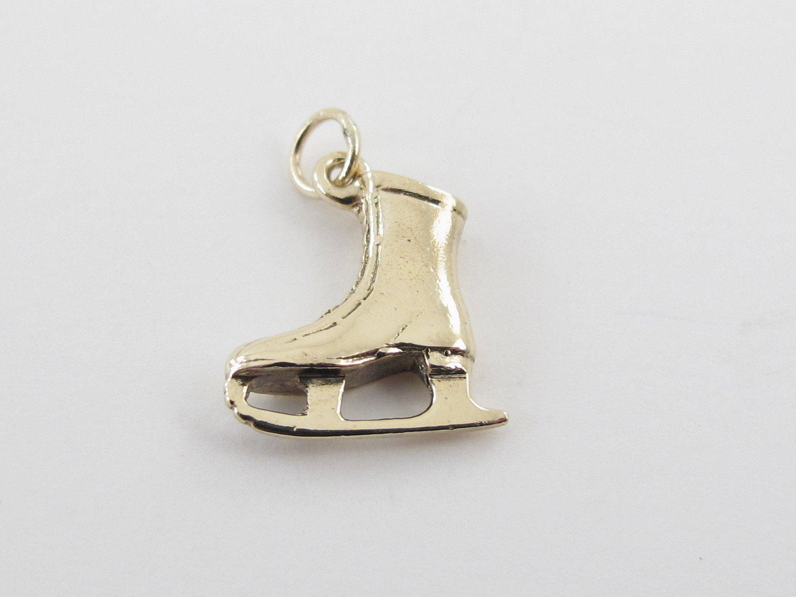 14k or jaune glace patinage Boot Boot patinage Charm - 14k pendentif en or jaune Vintage glace patinage Boot e6cd11
