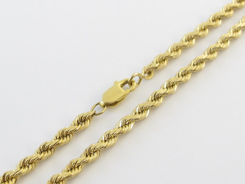 92212c09ee329 14k Yellow Gold Rope Chain Necklace 20