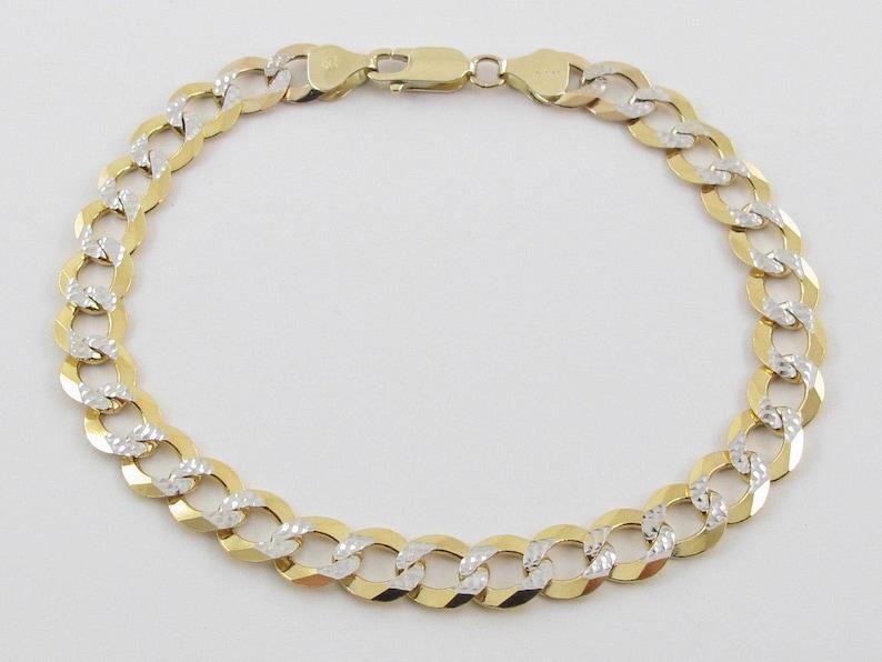 79b8c0c9df567 14K Yellow Gold Men's Cuban Link Bracelet 9