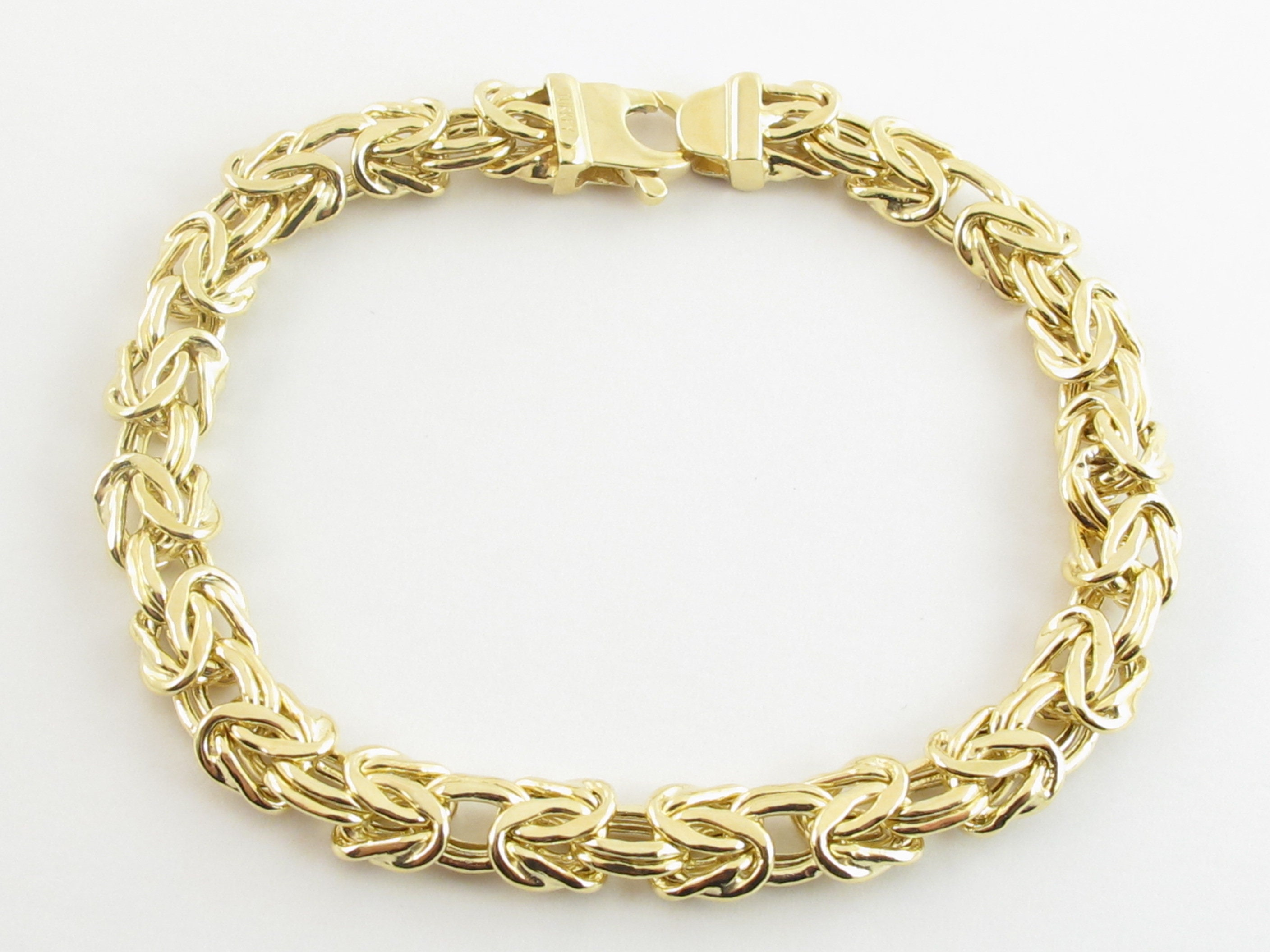 221k Yellow Gold Byzantine Bracelet Available In 221 21/21