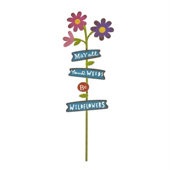 Jardin de fée Mini - signe de fleurs sauvages - Miniature fournitures Accessoires maison de poupée