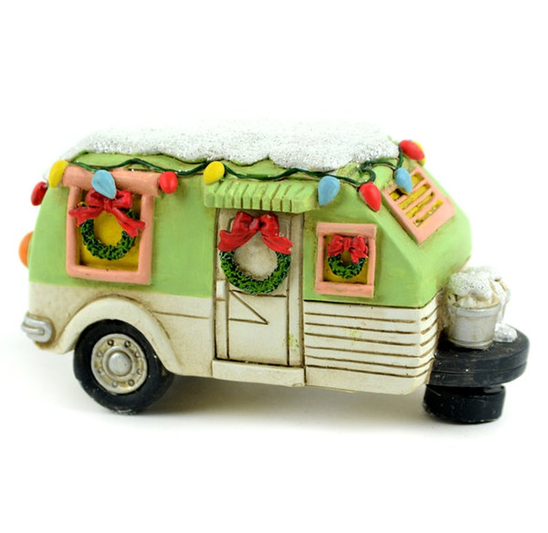 Mini Christmas Camper Decoration