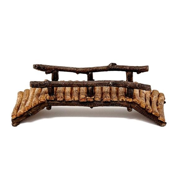 Miniature Fairy Garden Large Wooden Bridge NEW in Box