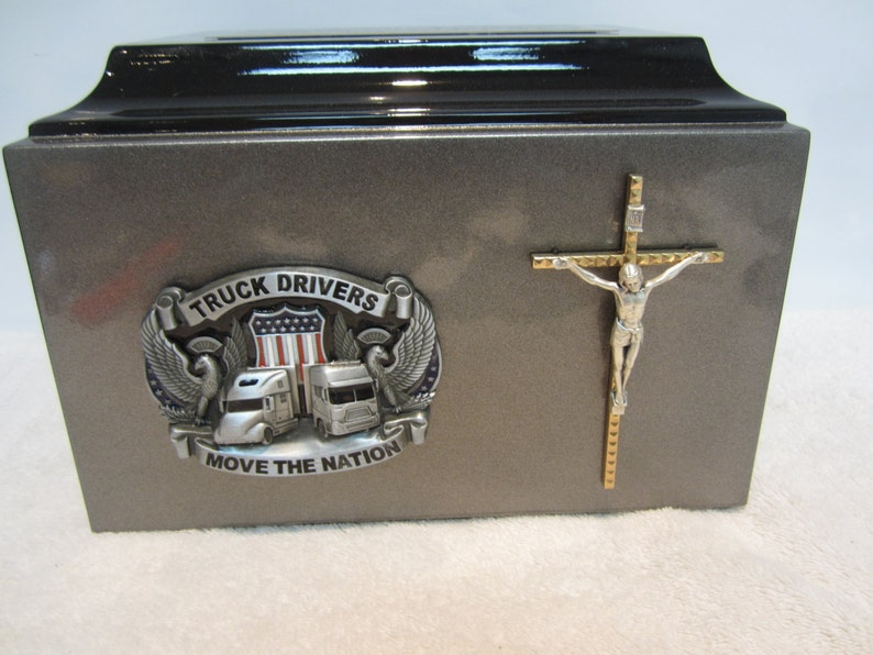 224 Trucker   Religious Adult Funeral Memorial Cremation Urn  image 0