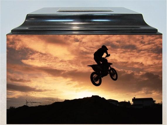237 Motocross Funeral Memorial Adult Cremation Urn