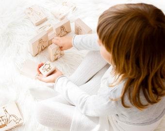 Nativity Block Set, Nativity set for Children, Nativity for Kindergarten, Nativity Set for School, 17 pcs, Wooden Christmas Toys