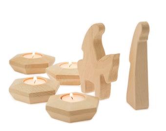 Advent Decoration, Mary on Donkey, Mary and Joseph, Beautiful Advent Wreath, Christmas Countdown