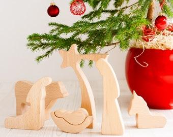 Nativity set - OILED, Wood Nativity set, Nativity Set, Nativity Scene, Nativity Figures, Nativity Silhouette, Wood Figures