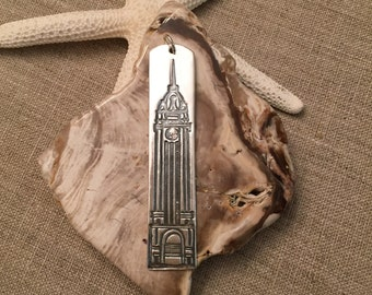 Aloha Tower Fine Silver Pendant