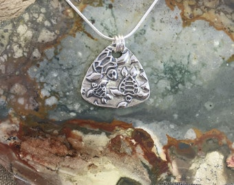 Sea Turtle Fine Silver Pendant