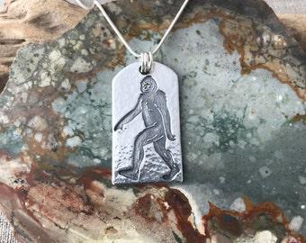 Sasquatch Fine Silver Pendant