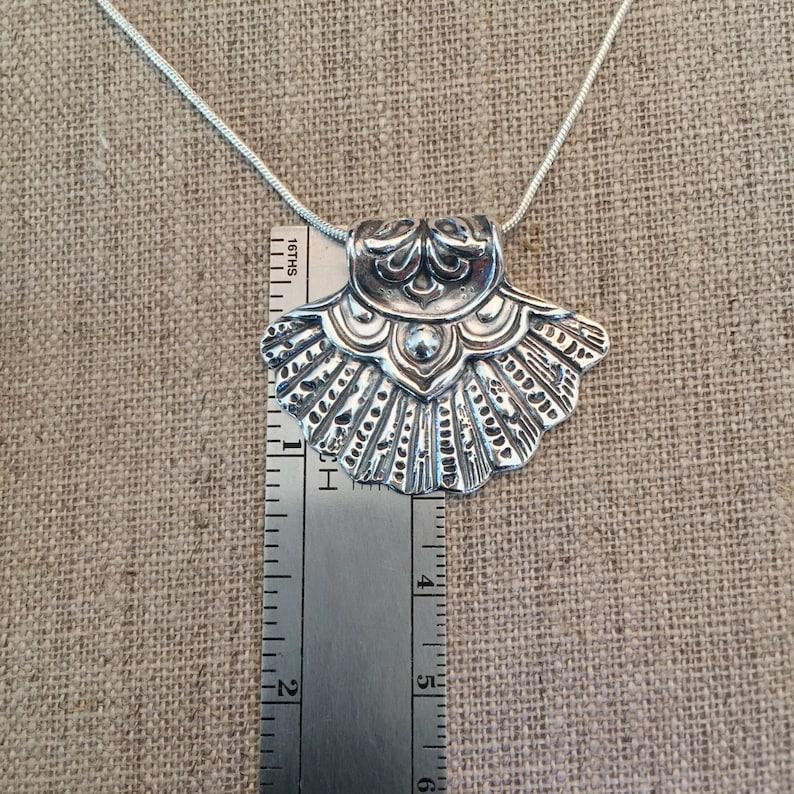 Scallop Mandala Fine Silver Pendant