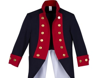 Deluxe Children s American Continental Army Uniform Jacket 22de827328ae9