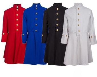 Children's Fully Lined Colonial Coats, with Button Accents. Perfect or Museum Days, Walk Through the Revolution Living History Colonial Days