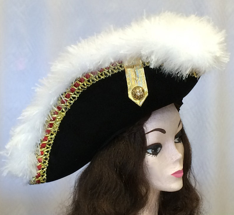 ace93dac Colonial Inspired Commander or Officer's Hat Pirate Hat | Etsy