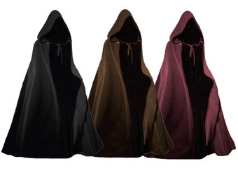 Renaissance Hooded Cloak with Clasp