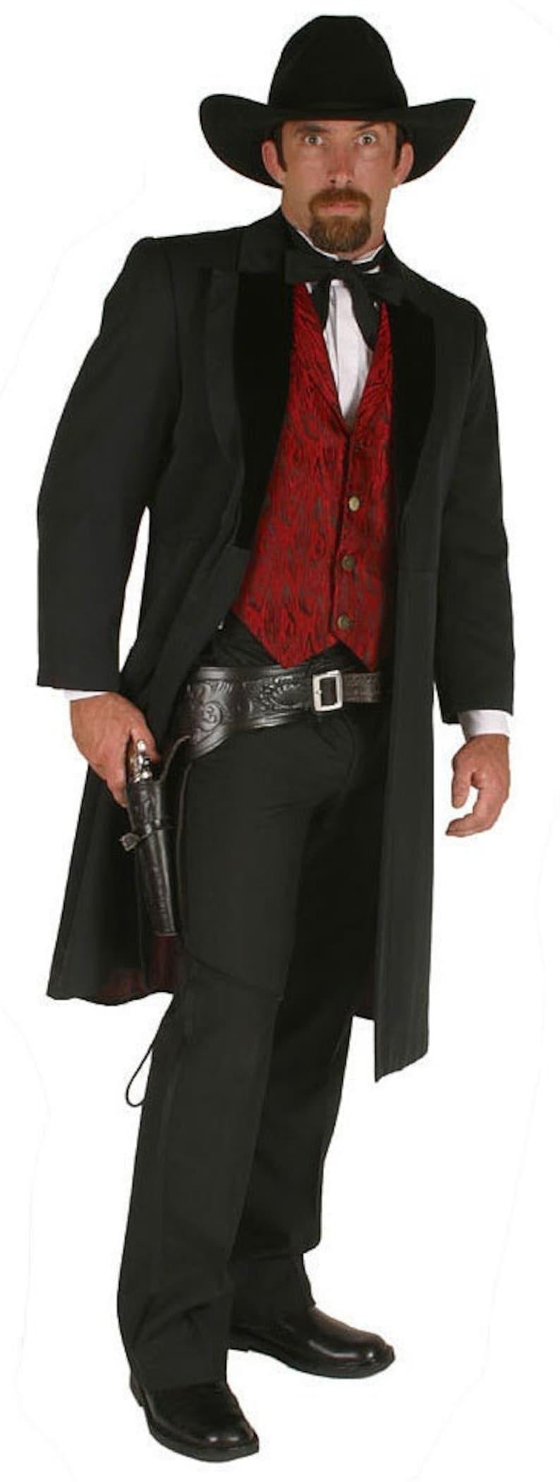 Victorian Men's Costumes: Mad Hatter, Rhet Butler, Willy Wonka John (Doc) Holliday Tombstone Western Costume $268.97 AT vintagedancer.com
