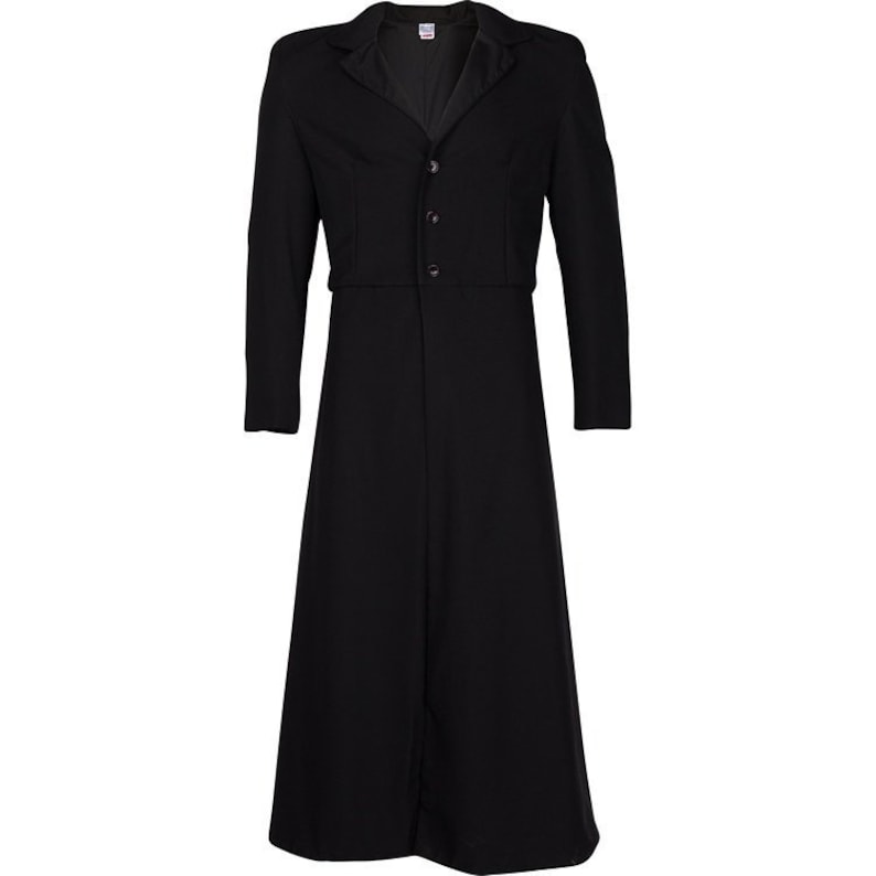 Victorian Mens Suits & Coats 19th Centuray Edwardian Victorian Rifle Frock Coat or Long Coat. Great for Western Wear Steampunk and so much more! $167.97 AT vintagedancer.com