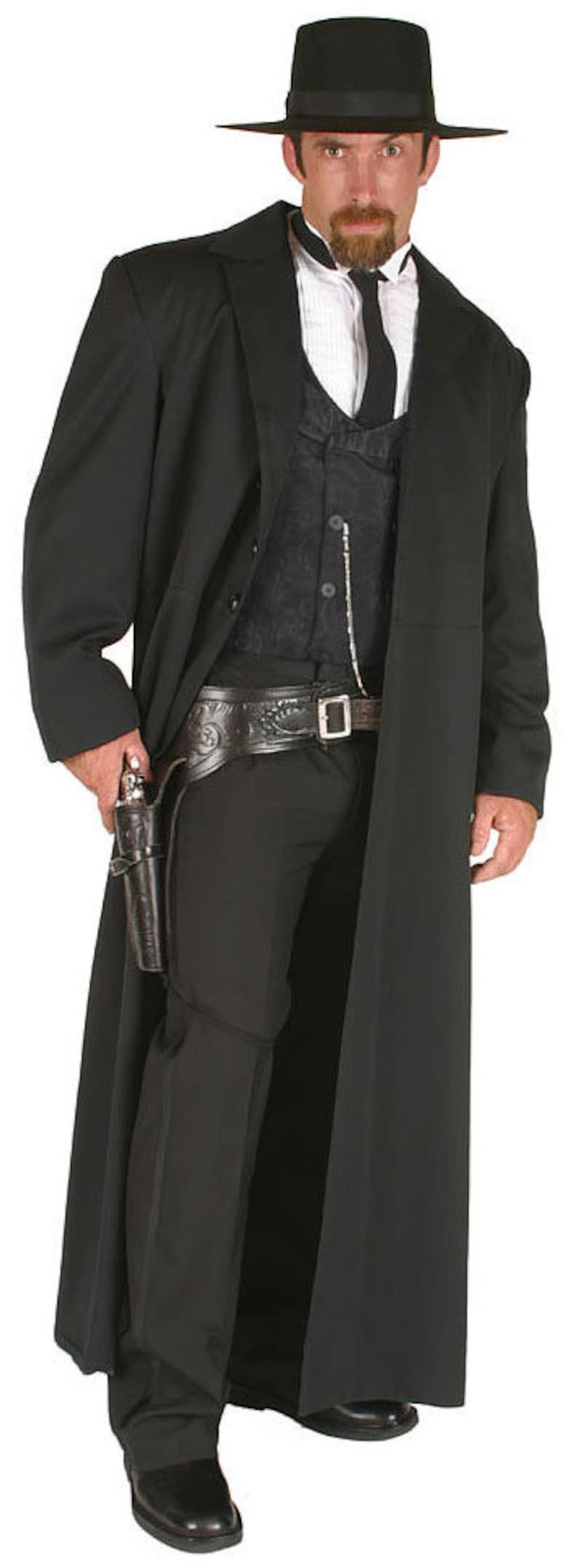 Victorian Men's Costumes: Mad Hatter, Rhet Butler, Willy Wonka Wyatt Earp Western Costume $246.97 AT vintagedancer.com