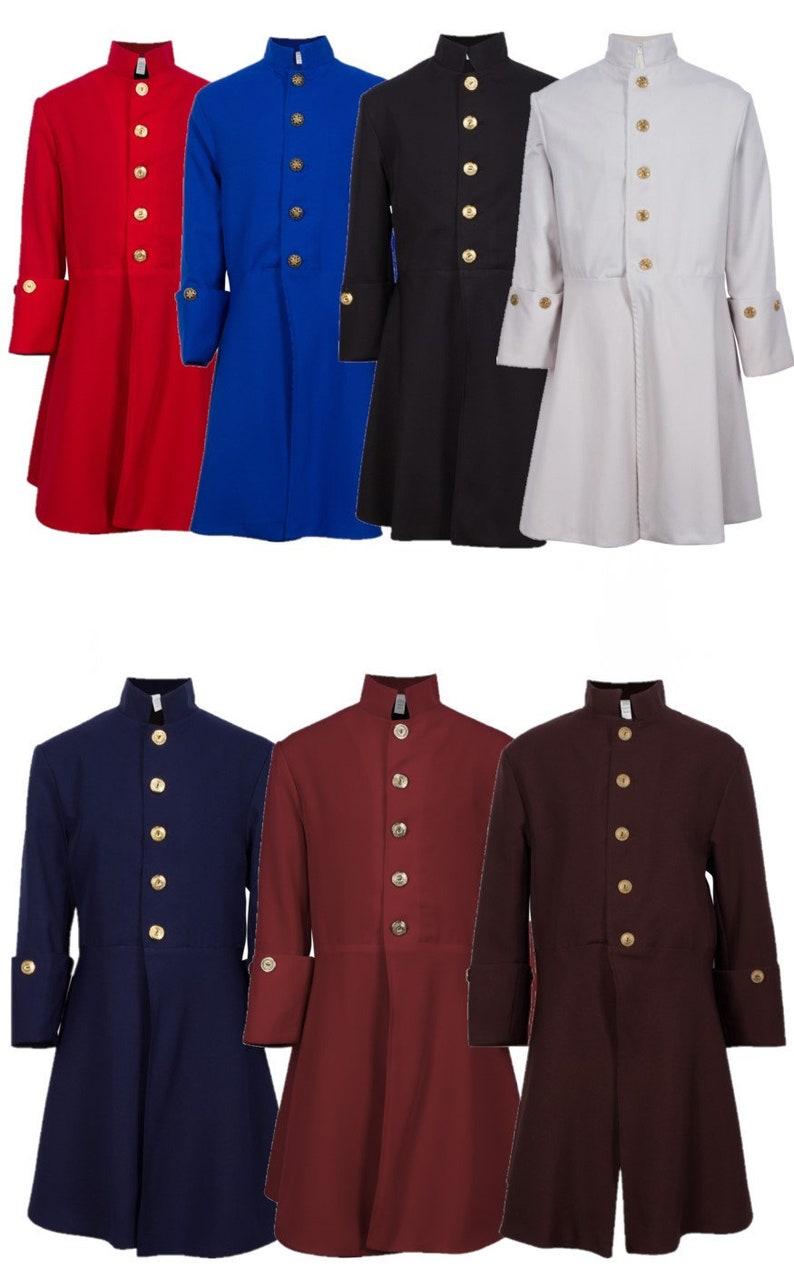 Children's Fully Lined Colonial Coats with Button image 0