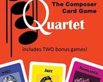 QUARTET Card Game for ages 4+ featuring composers Tabletop game