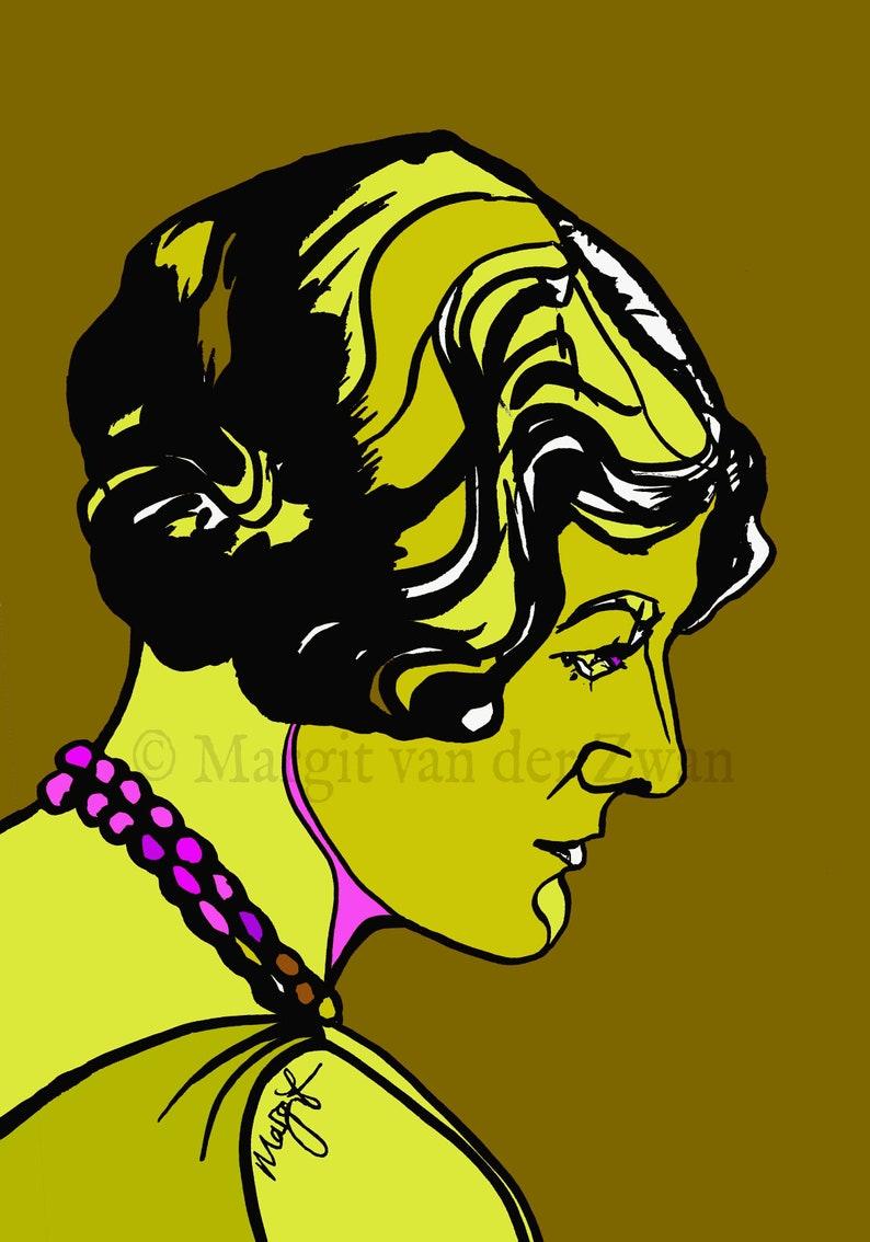 Rebecca Clarke portrait of female composer. This artwork forms image 0