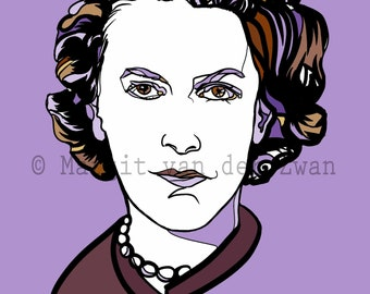 Grace Williams is one of the most pre-eminent composers to come from Wales, UK. Handmade giclée print A4 size