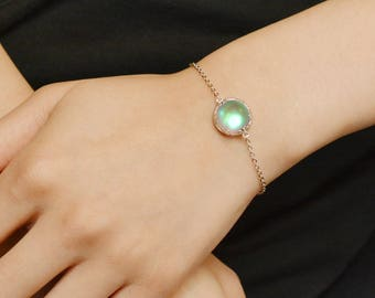 Moonstone Bracelet Moonstone Necklace Jewelry gemstone bracelet raw crystal bracelet Crystal Jewelry hand made