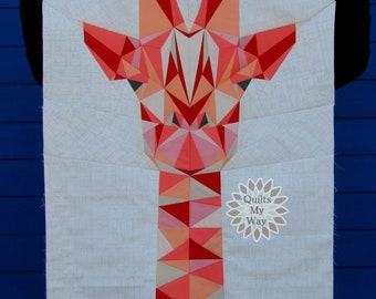"Giraffe Quilt- PDF paper piecing pattern 30""x45"""